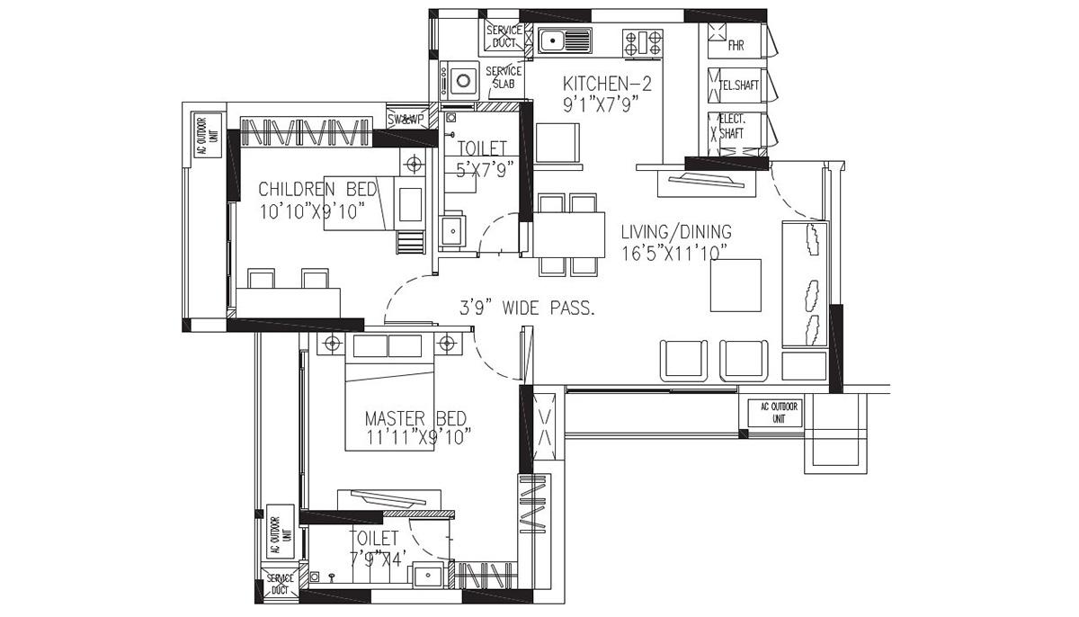 1010 1215 Sq Ft 2 3 Bhk Multistorey Apartment In Manpadathane